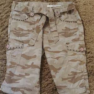 DKNY camo cargo shorts